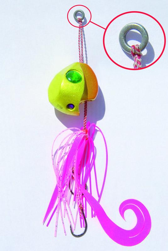 attache avec anneau soudé hyabusa pêche