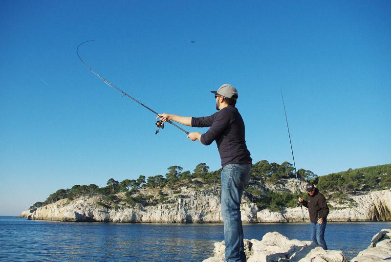 pêche du bord shore jigging hayabusa